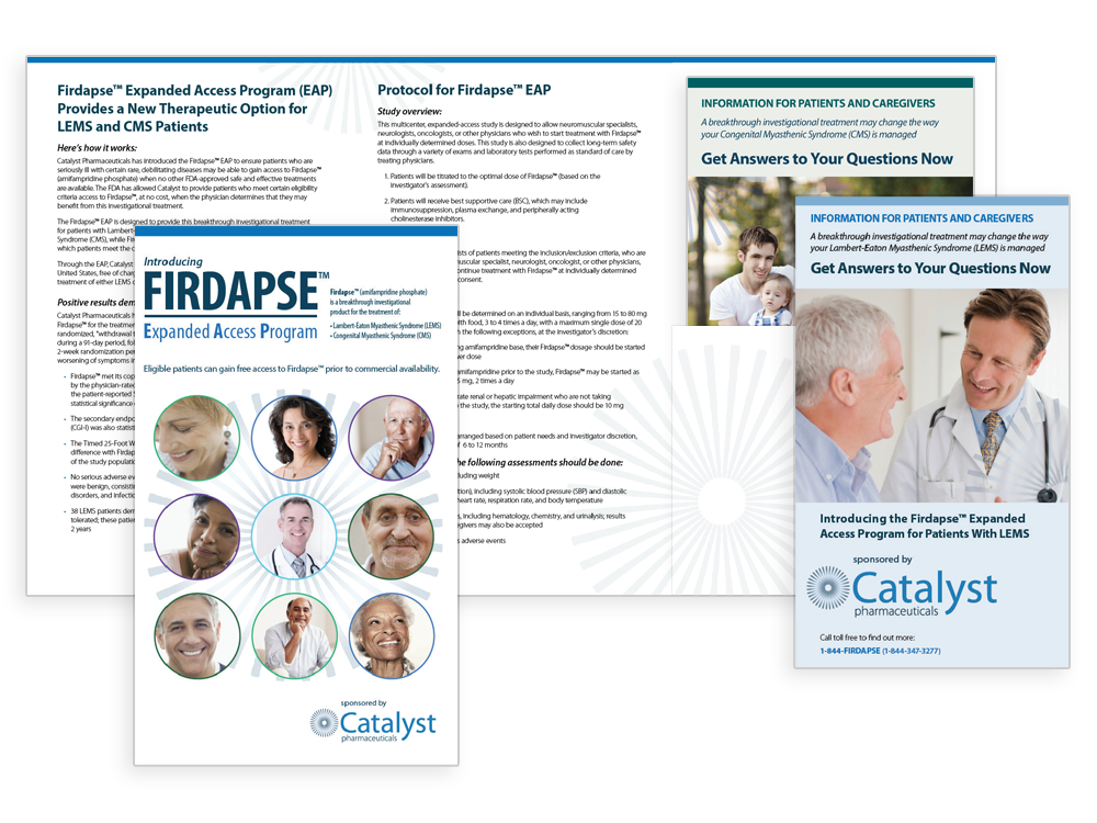 FIRDAPSE® Expanded Access Program (EAP) Brochures with View of One Inside Spread