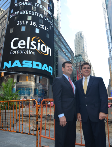 Celsion on the NASDAQ Screen